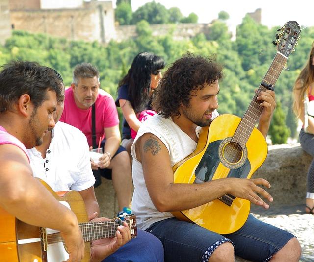 Pouliční muzikanti v Andalúzii