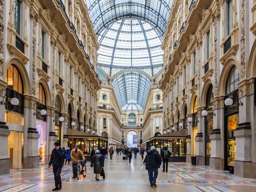 Nákupné centrum, Miláno