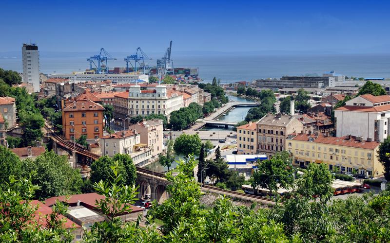 Výhľad na mesto Rijeka