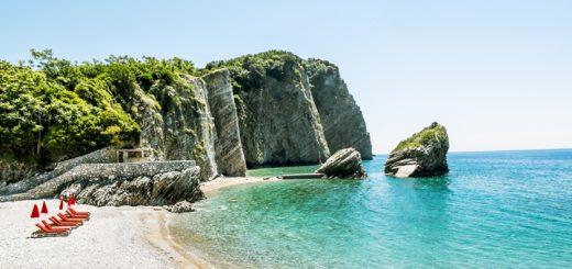 Pláž na ostrove sv. Mikuláša