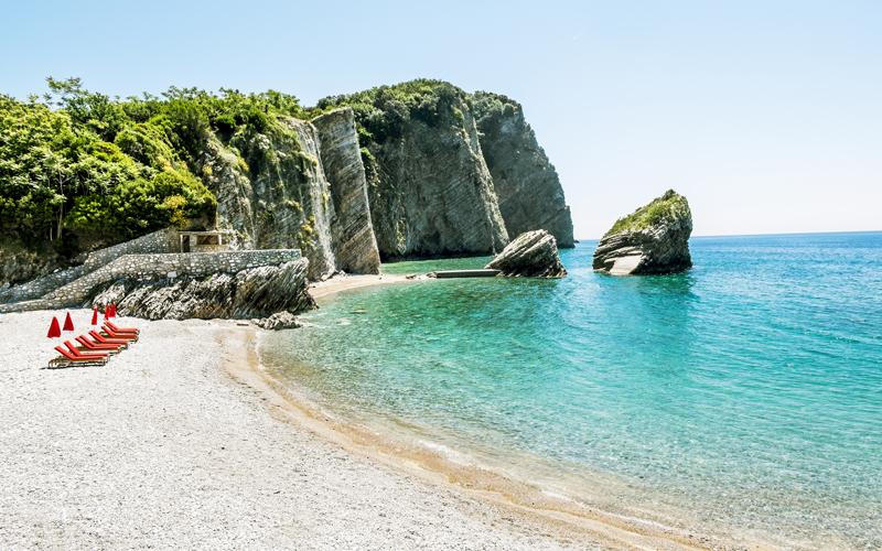 Pláž - ostrov sv. Mikuláša