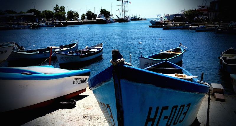 Prístav v meste Nesebar