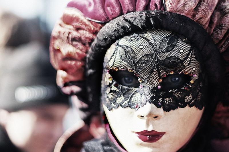 Maska na benátskom karnevale