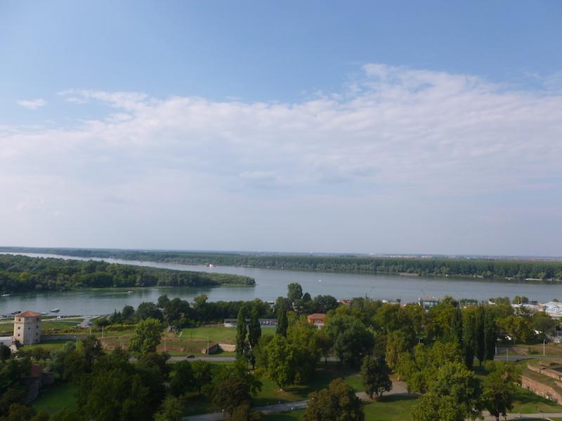 Sútok riek Sáva a Dunaj v Belehrade