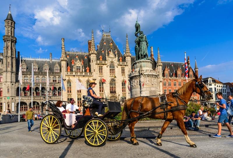 námestie Burg v Brugách