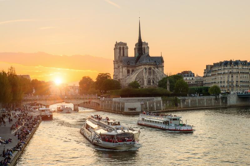 Seina a Notre Dame Paríž