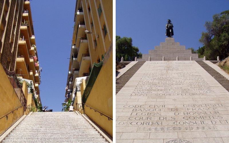 Napoleonov pomník a ulica v Ajacciu