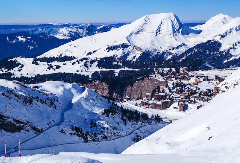 Lyžovačka francúzske Alpy Avoriaz