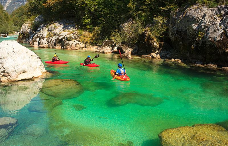 Soča rafting Slovinsko