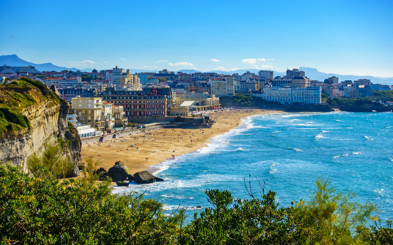 Pobrežie mesta Biarritz