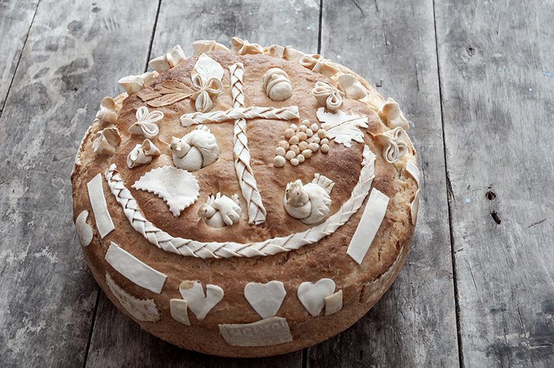 Pogača chlieb Srbsko