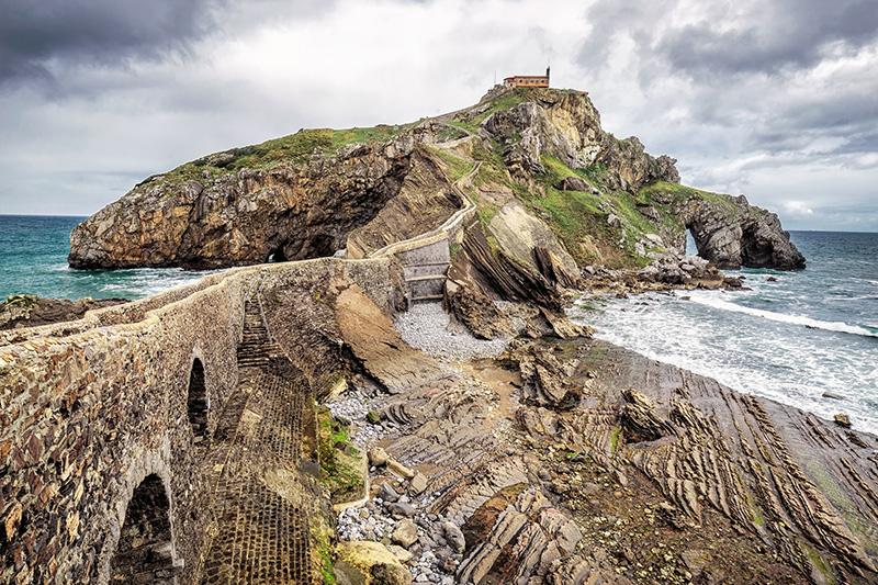 San Juan de Gaztelugatxe Baskicko Španielsko