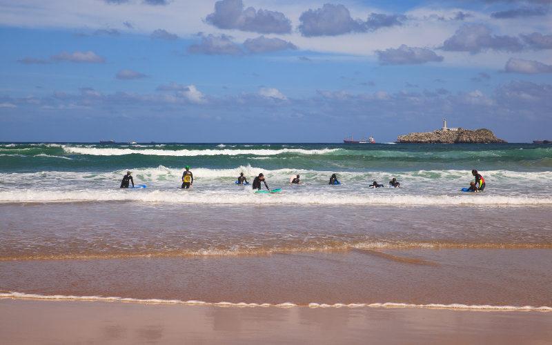 Pláž v meste Santander