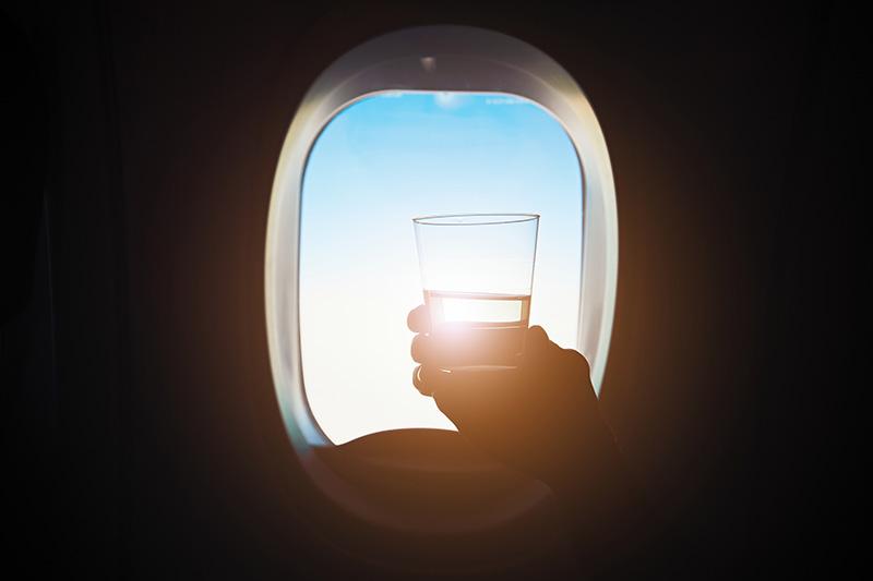 Hydratácia počas letu