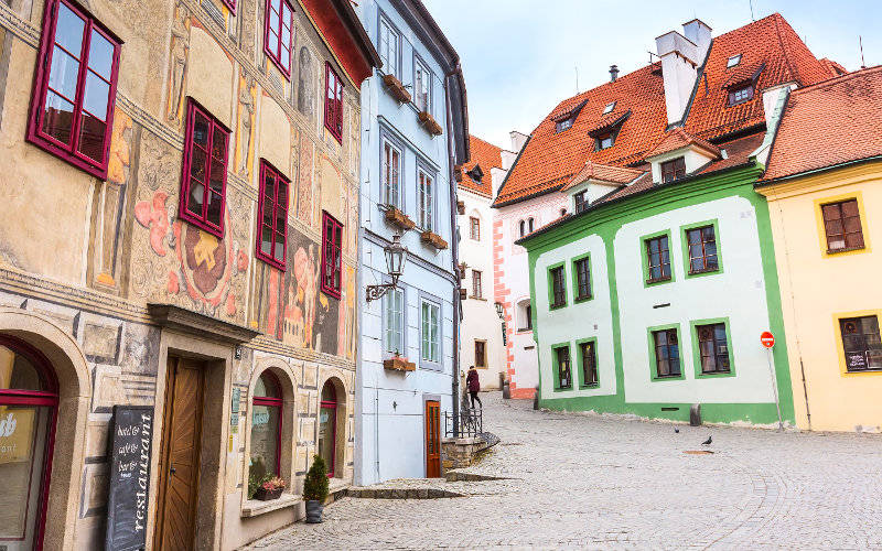 Ulice Českého Krumlova