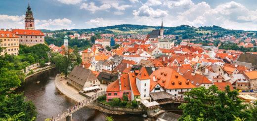 Pohľad na Český Krumlov
