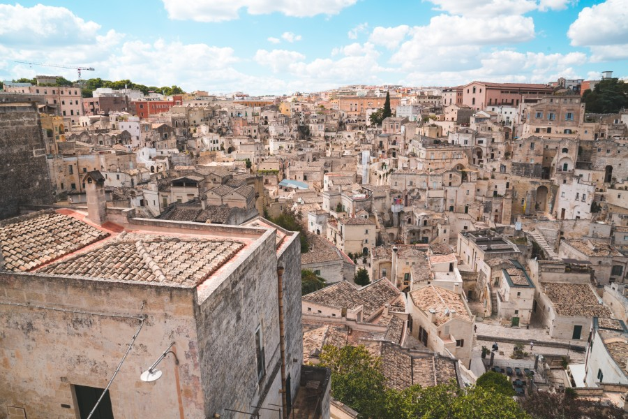 Talianske mesto Matera v regióne Basilicata