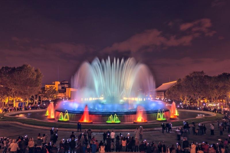 Magická fontána v Barcelone
