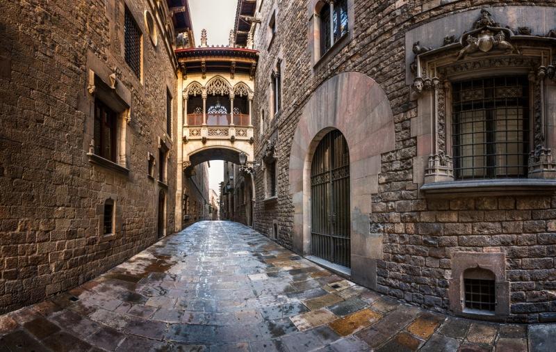 Gotická štvrť Barcelona